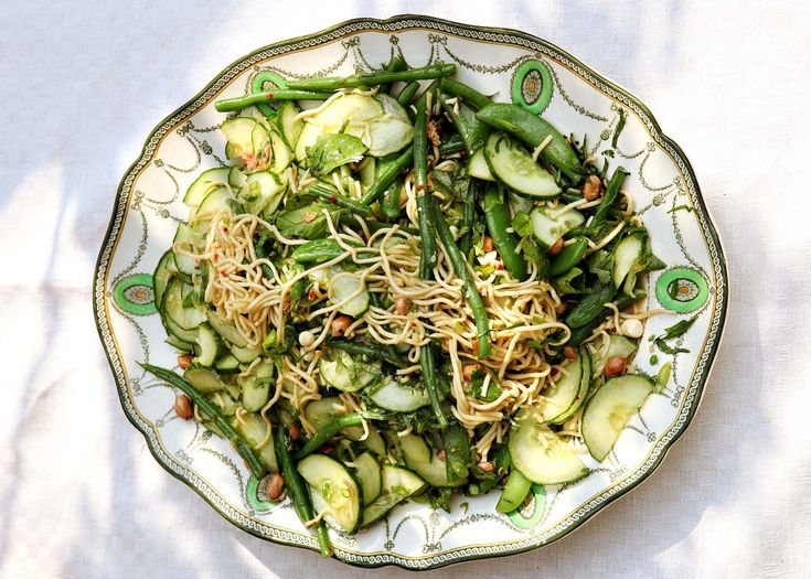 herby, peanutty, noodly salad | #noodly #salad #vegetarian #recipe #foodwise