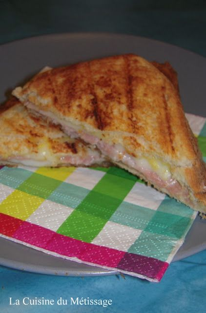 croque monsieur jambon chèvre miel moutarde