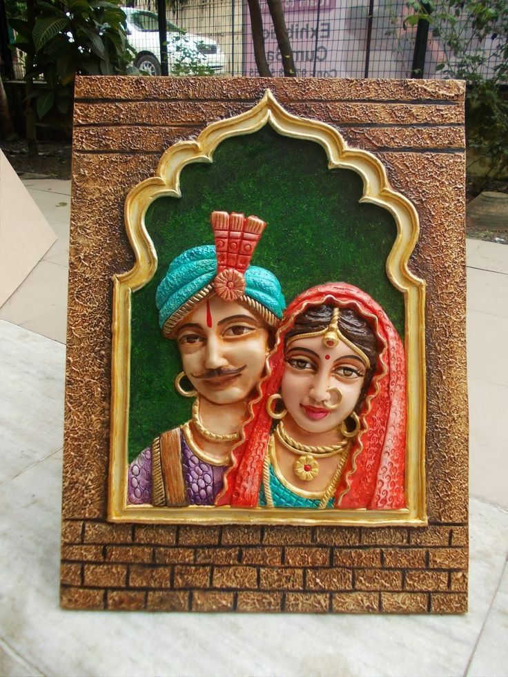 3d mural art rajasthani face mural - Google Search