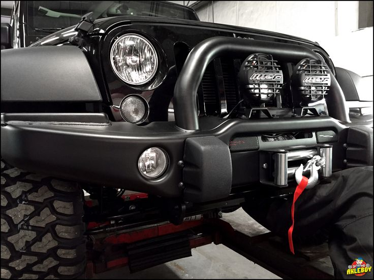installing an aev bumper with trailfx winch and ipf. Black Bedroom Furniture Sets. Home Design Ideas