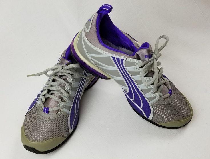 PUMA Sport Lifestyle Gray Purple Athletic Running Shoes Sneakers Sz 7,5  #PUMA #Running