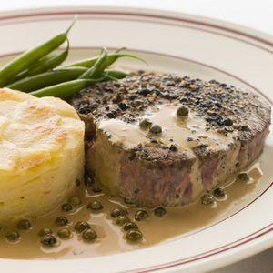Pfeffer steak s pepřovou omáčkou