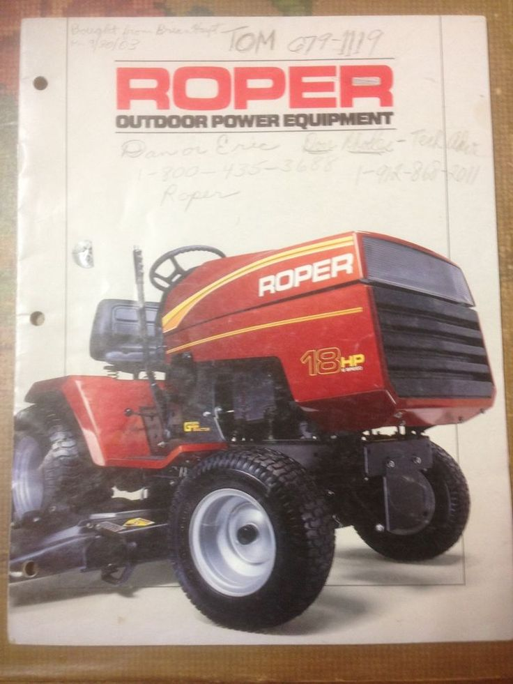 Roper Advertisment Garden Tractor Plus Lawn Leveler Blade