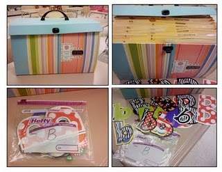 How to organized all your bulletin board letters...what a great idea!