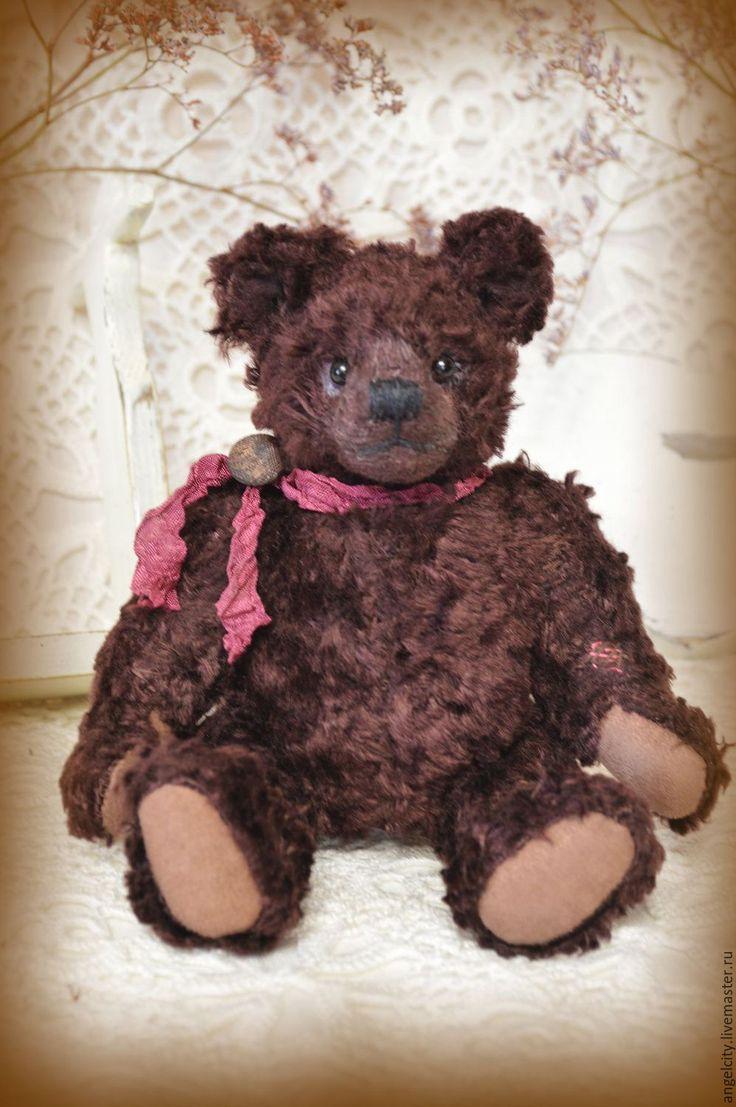 Купить Пауль мишка Тедди (классика, выкройка 1920 года) - коричневый, шоколадный, каштановый, тедди