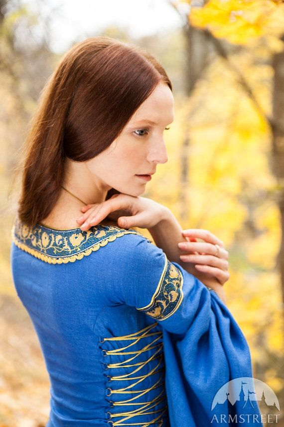 SALE Blue Dress Lady of the Lake medieval dress by armstreet