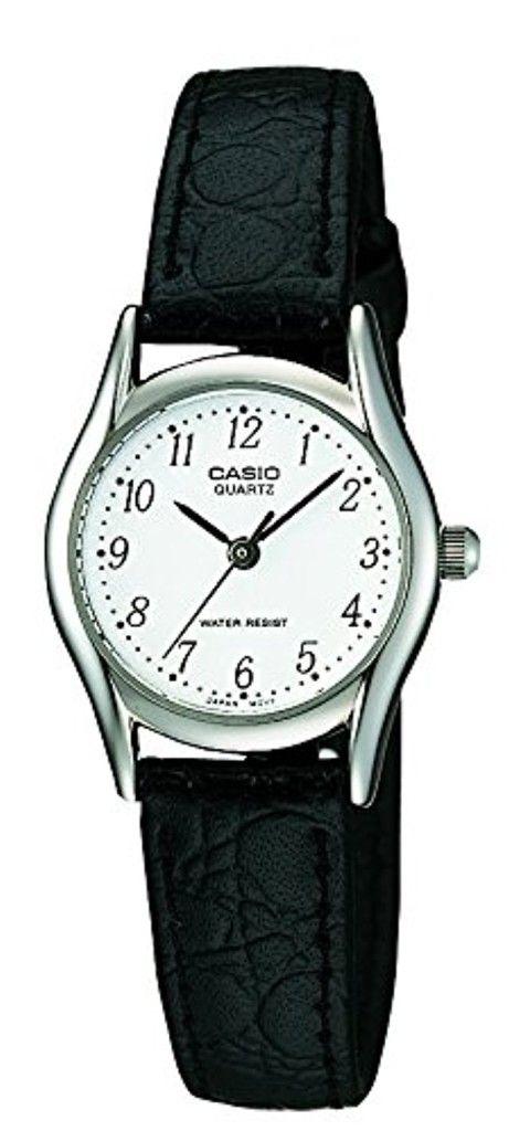 Casio - LTP-1154PE-7BEF - Classic - Montre Femme - Quartz Analogique - Cadran Blanc - Bracelet Cuir Noir 2017 #2017, #Montresbracelet http://montre-luxe-femme.fr/casio-ltp-1154pe-7bef-classic-montre-femme-quartz-analogique-cadran-blanc-bracelet-cuir-noir-2017/