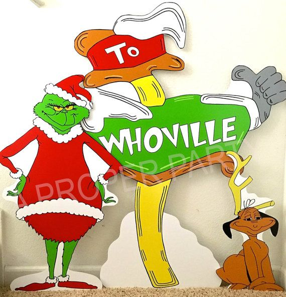 Grinch who stole Christmas Whoville Grinch Party by aPROPerParty