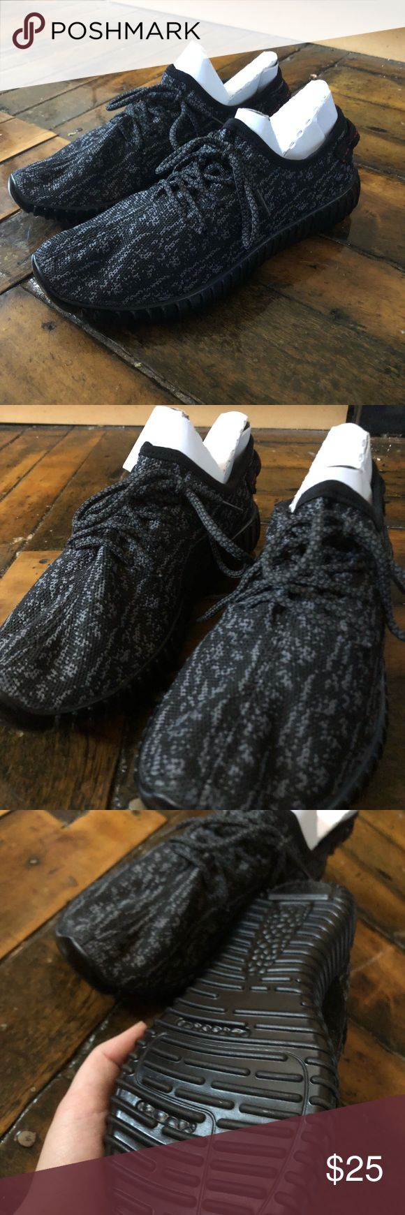 Black Yeezy-looking shoes Price reflects authenticity. These are super comfy! I tried them on once. Yeezy Shoes Sneakers