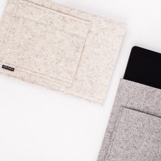 Felt sleeves for iPad made by twentysix.cz