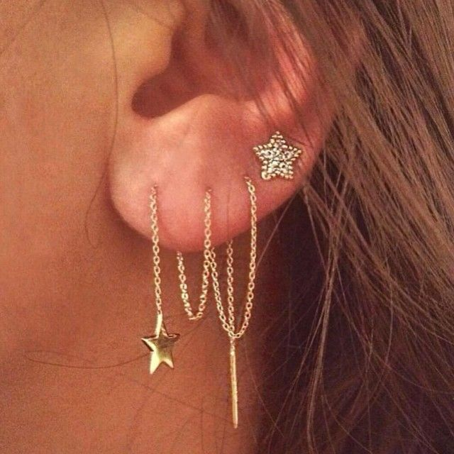 How amazing are these threader earrings! Wear them threaded once through your earlobe or many times for multiple piercings. Shop now www.jewelcult.com