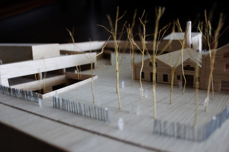 Ioana Turcanu's Masterthesis, 'Alternative school - a learning landscape', Barcelona 2014, scale 1/200