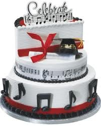 music cake - this will most likely be my graduation cake