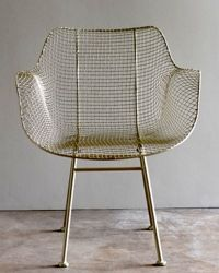 Biscayne Wire Chair - any of these wire chairs could be a nice mix with a restored wood table in the conference room.  Just add art work and done!