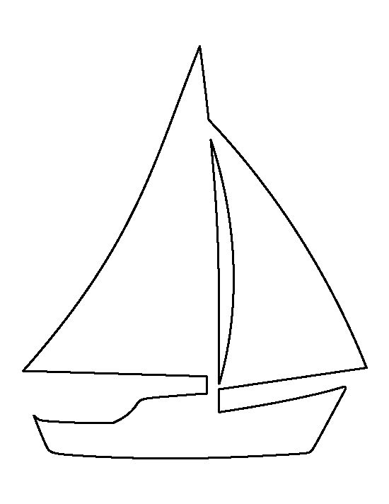 Canny image inside sailboat printable