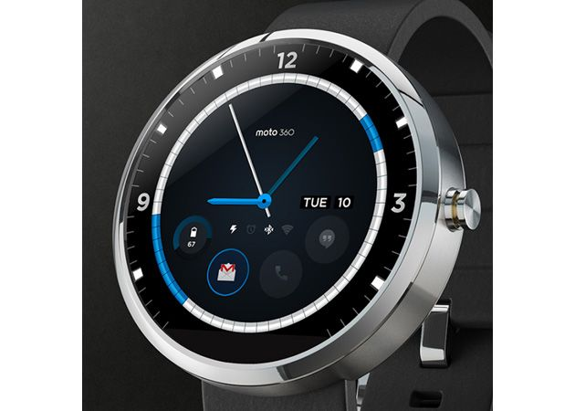 Contest-winning Moto 360 watch face blends classic looks with modern tech