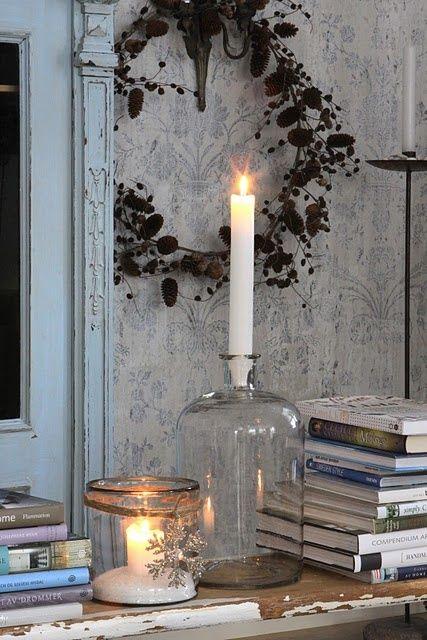 Hus i skogen: Candle lights Inspirasjon