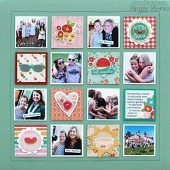 School Memories created with the Summer Days Collection. Shop now at Scrapbook.com