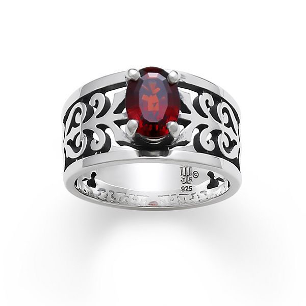 Adoree Ring with Garnet - other gems available #jamesavery ...