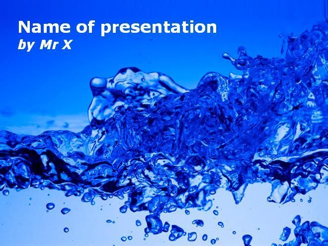 10 best Dark Powerpoint Presentation Templates images on Pinterest - water powerpoint template