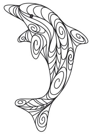 Doodle Dolphin design (UTH6459) from UrbanThreads.com: