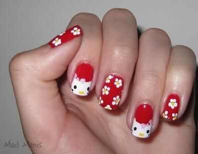 : Nails Art Ideas, Nails Design, Nailart, Nail Art Ideas, Beautiful, Hellokittynails, Hello Putty, Nails Art Design, Hello Kitty Nails
