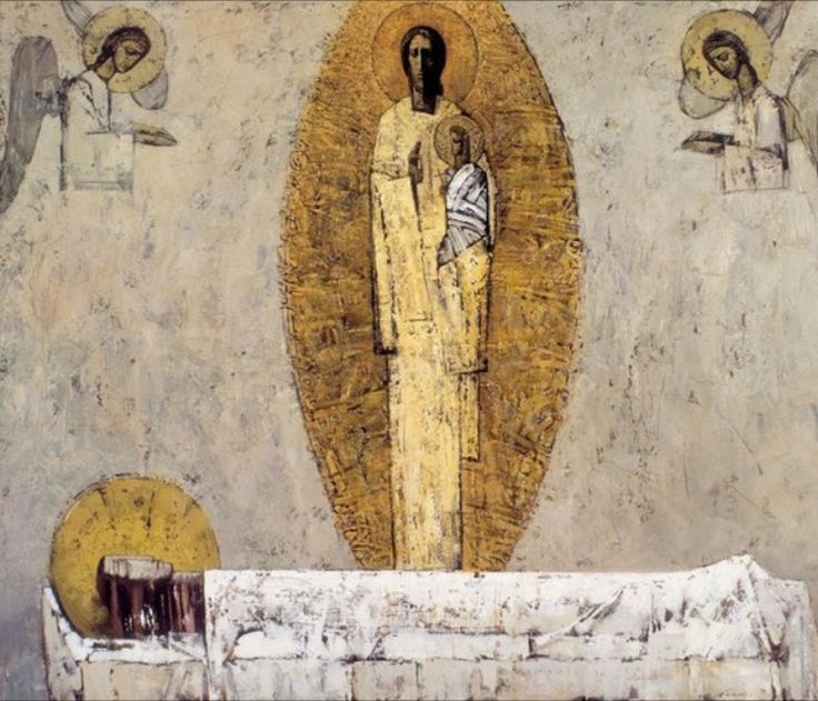 Dormition contemporary icon