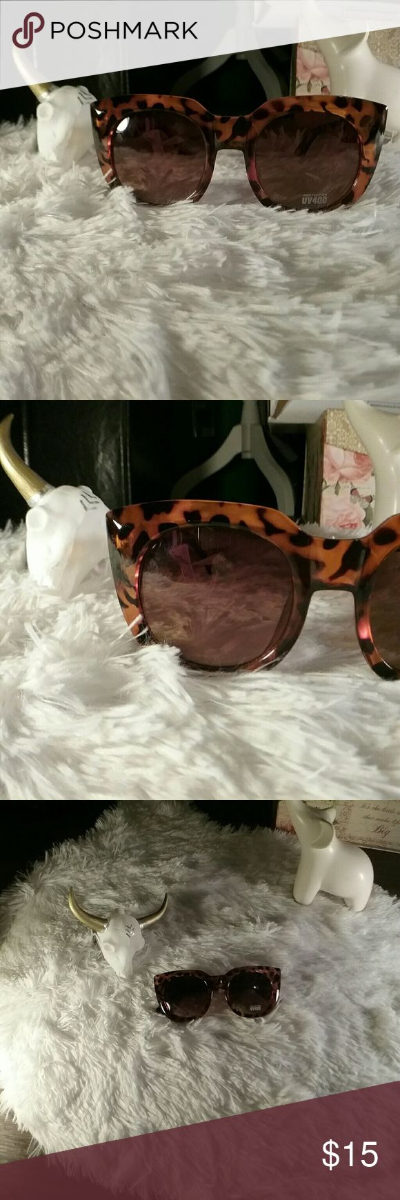 NEW Oversized Cheetah Cat-Eye Moviestar Sunglasses Gorgeous and super flattering!  Not a Poshmark member yet? Enter referral code WHTELEPHNTRVIVL while setting up your account and get $5 off your first purchase! Accessories Sunglasses