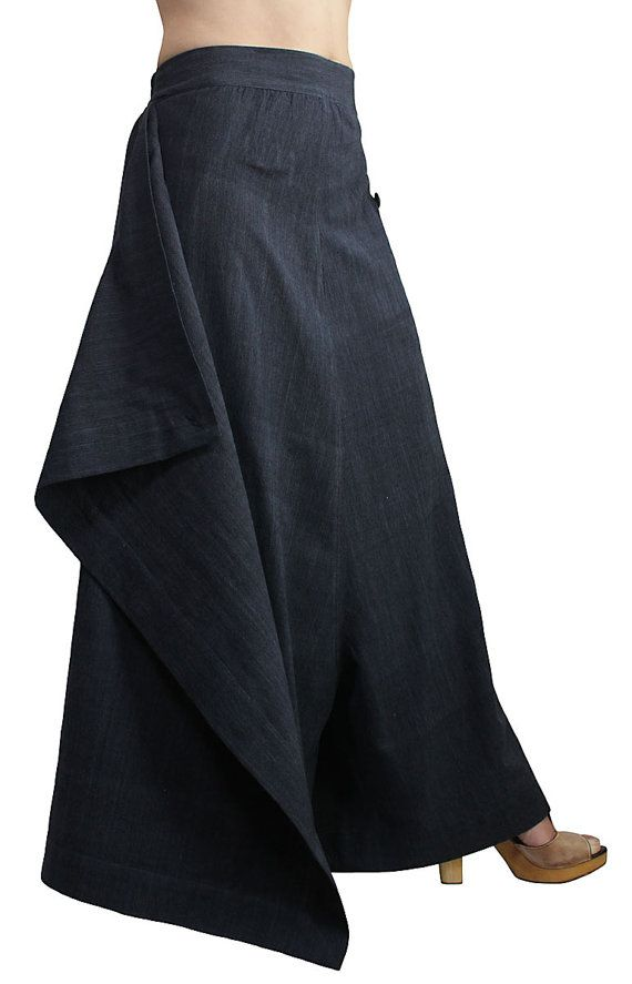 ChomThong Hand Woven Cotton Loose Skirt-like Wide by SawanAsia