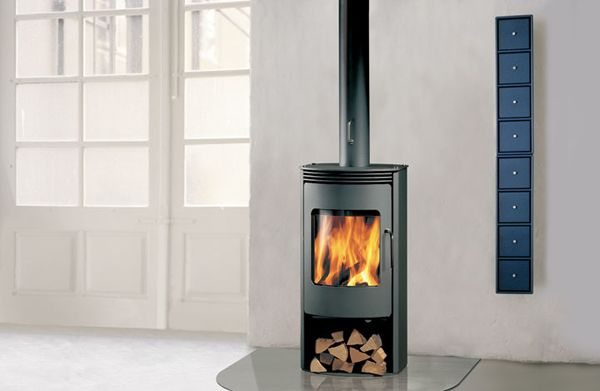decorating with free standing fireplaces wood burning - Google Search