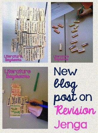New and updated blog post on Revision Jenga. A fab classroom activity