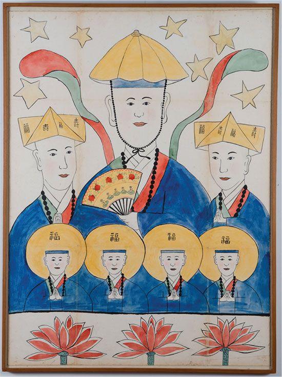 Mushindo ( 무신도 巫神圖)- 칠성신 Chilseong - Seven Stars Deity