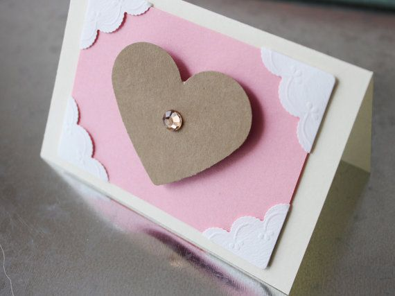 Valentine Card General / No Message by LYHHandmadeGifts on Etsy