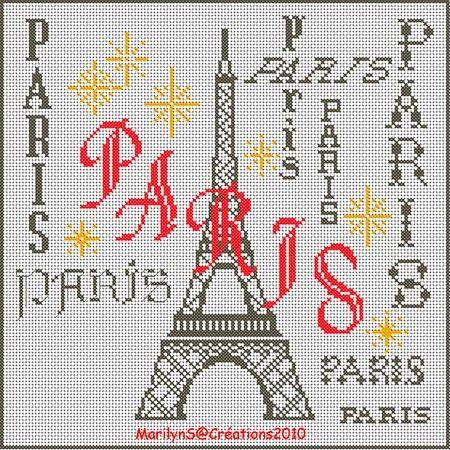 Les 187 meilleures images du tableau points croix paris - Broderie point compte grille gratuite ...