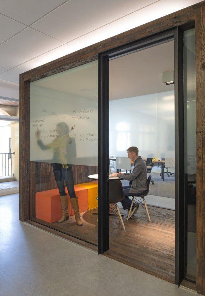 A Tech Company's Palo Alto Offices uses transluscent Whiteboards that let in light - smart.