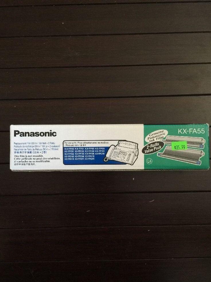 NOS genuine Panasonic KX-FA55 replacement film for fax machines 2-pack #Panasonic