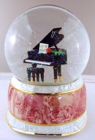 Musical Note Globe   Snow Globe: Piano Romance at Stanton's Sheet Music