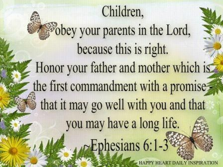 Colossians 3:20 Children, obey your parents in everything ...