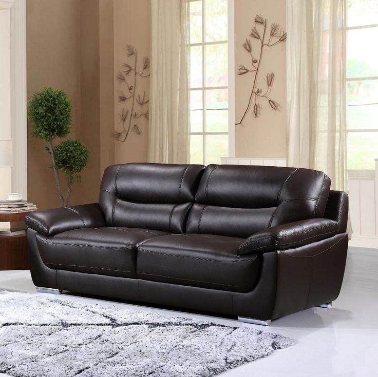 This weekend only! Bryce genuine leather sofa, ONLY $1199! Includes tax & free delivery!! #sofa #genuineleather #palluccifurniture  http://www.palluccifurniture.ca/bryce-genuine-leather-sofa-brown/