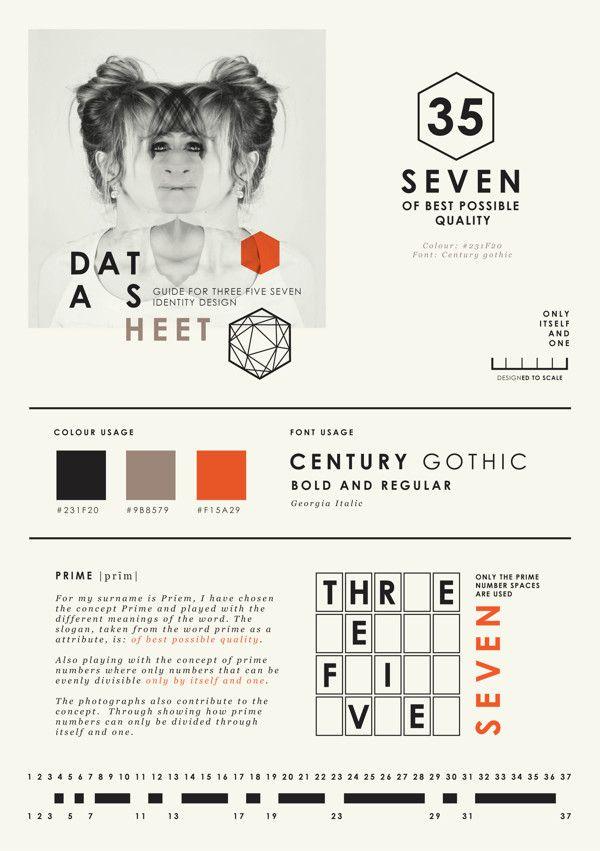 Self promotion { Graphic Designer } by Wanda Priem, via Behance
