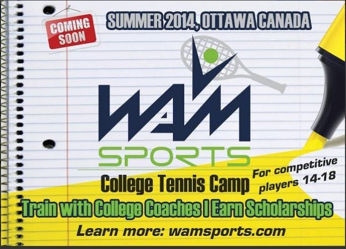 These types of events are great to meet and learn all about tennis scholarships