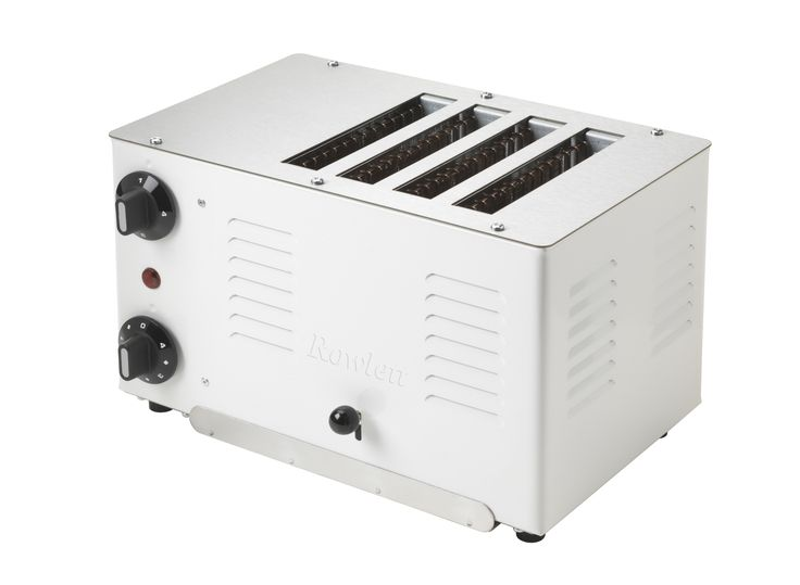 The Retro Regent handmade toaster in White. Manufactured to Rowlett's traditional high class standard by highly trained craftsman in the UK Workshop