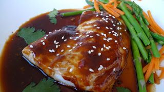 Alaskan Black Cod with Hoisin and Ginger Sauces —