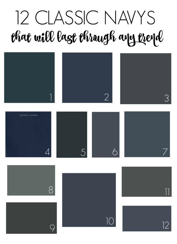 Classic Navy Paint Colors That Will Outlast Any Trend City Farmhouse Eclectic Diy Craft