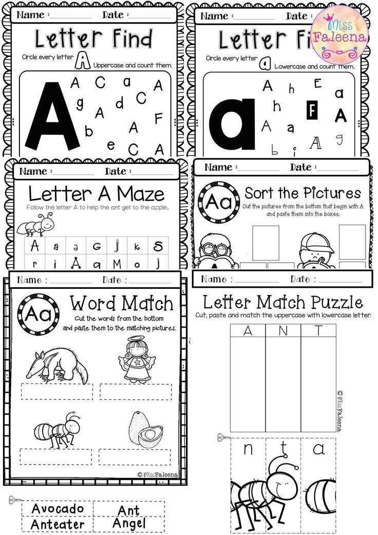 Letter of the Week A is designed to help teach letter A for children ...