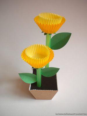 #DIY #spring #flowers #cupcakes #kids #yellow