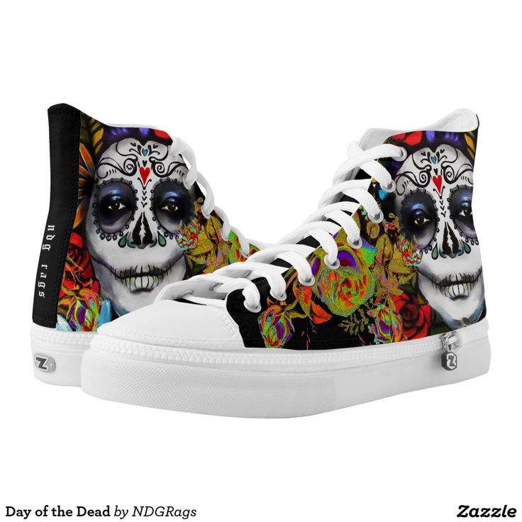 Day of the Dead Printed Shoes by NDGRags