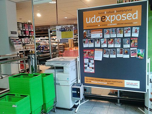Koosje @ the local supermarket. By Popjes Art.