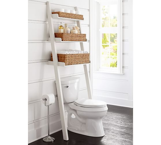 ainsley over the toilet ladder with baskets ba o. Black Bedroom Furniture Sets. Home Design Ideas