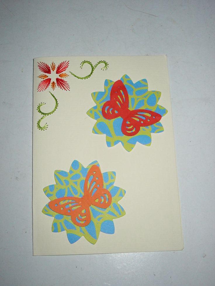 vlinder, borduurkaart